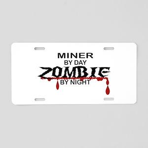 Minor Zombie Aluminum License Plate