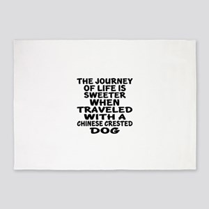Traveled With Chinese Crested Dog D 5'x7'Area Rug