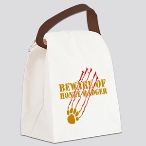 Beware of honey badger Canvas Lunch Bag