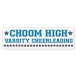 Choom High Varsity Cheerleading Sticker (Bumper)