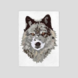 Wolf 5 X7 Area Rug