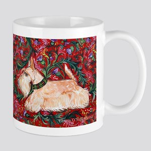 Wheaten Scottish Terrier on Red Mug