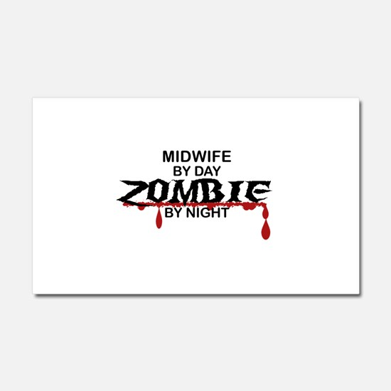 Midwife Zombie Car Magnet 20 x 12