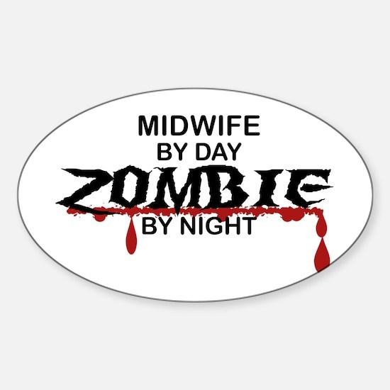 Midwife Zombie Sticker (Oval)