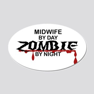 Midwife Zombie 20x12 Oval Wall Decal
