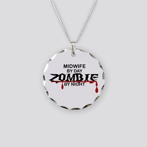 Midwife Zombie Necklace Circle Charm