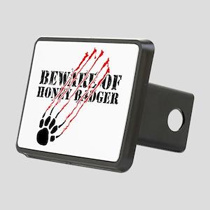 Beware of honey badger Rectangular Hitch Cover