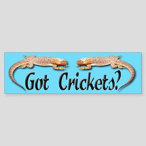Bearded Dragon Got Crickets Bumper Sticker