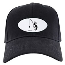 Kokopelli Fisherman Black Cap