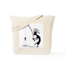 Kokopelli Fisherman Tote Bag