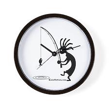 Kokopelli Fisherman Wall Clock