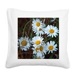 Shasta Daisies Square Canvas Pillow