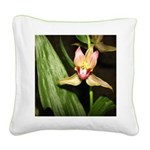Beautiful Lily Flower Square Canvas Pillo