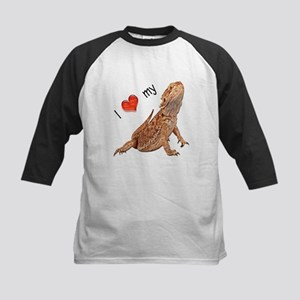 I luv my Bearded Dragon Kids Baseball Jersey