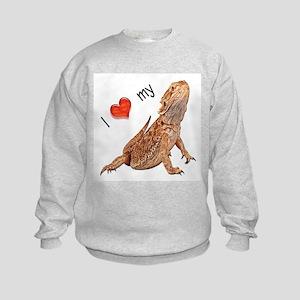 I luv my Bearded Dragon Kids Sweatshirt