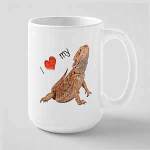 I luv my Bearded Dragon Large Mug