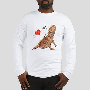 I luv my Bearded Dragon Long Sleeve T-Shirt