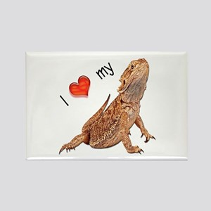 I luv my Bearded Dragon Rectangle Magnet