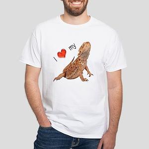 I luv my Bearded Dragon White T-Shirt
