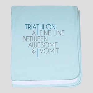 Triathlon Awesome Vomit baby blanket