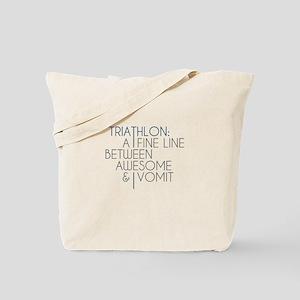 Triathlon Awesome Vomit Tote Bag