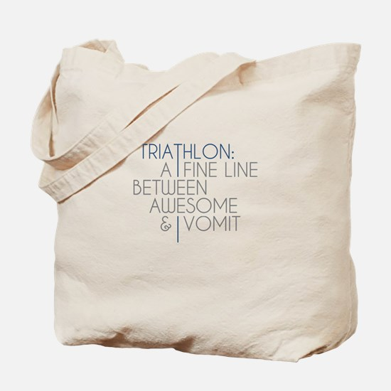 Triathlon Awesome Vomit Tote Bag