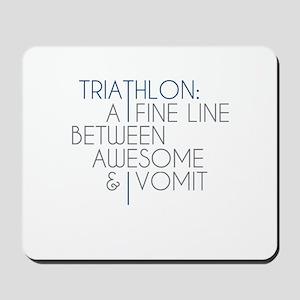 Triathlon Awesome Vomit Mousepad
