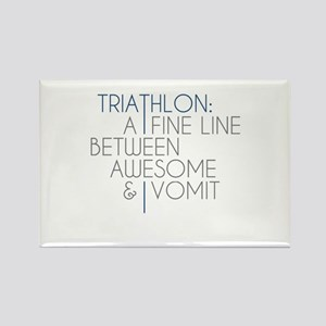 Triathlon Awesome Vomit Rectangle Magnet