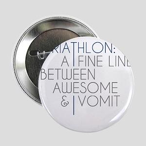 """Triathlon Awesome Vomit 2.25"""" Button"""