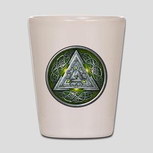 Norse Valknut - Green Shot Glass