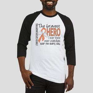 Bravest Hero I Knew Uterine Cancer Baseball Jersey