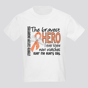 Bravest Hero I Knew Uterine Cancer Kids Light T-Sh