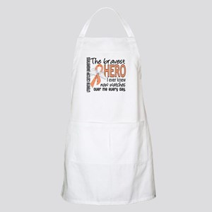 Bravest Hero I Knew Uterine Cancer Apron