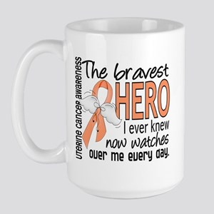 Bravest Hero I Knew Uterine Cancer Large Mug