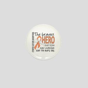 Bravest Hero I Knew Uterine Cancer Mini Button