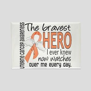 Bravest Hero I Knew Uterine Cancer Rectangle Magne