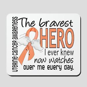 Bravest Hero I Knew Uterine Cancer Mousepad