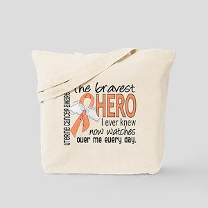Bravest Hero I Knew Uterine Cancer Tote Bag