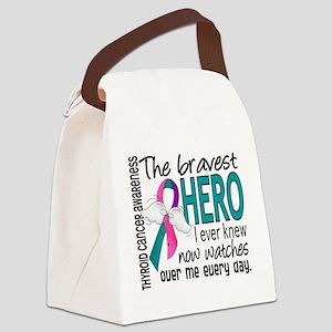 Bravest Hero I Knew Thyroid Cancer Canvas Lunch Ba