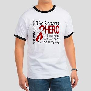 Bravest Hero I Knew Stroke Ringer T
