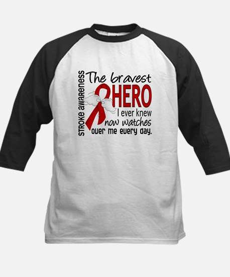 Bravest Hero I Knew Stroke Kids Baseball Jersey
