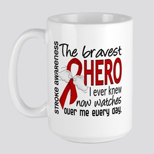 Bravest Hero I Knew Stroke Large Mug