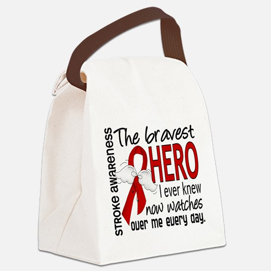 Bravest Hero I Knew Stroke Canvas Lunch Bag
