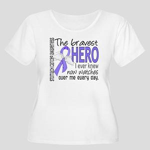 Bravest Hero I Knew Stomach Cancer Women's Plus Si