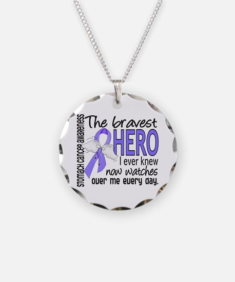 Bravest Hero I Knew Stomach Cancer Necklace