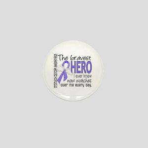 Bravest Hero I Knew Stomach Cancer Mini Button