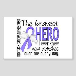 Bravest Hero I Knew Stomach Cancer Sticker (Rectan