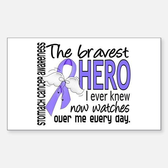 Bravest Hero I Knew Stomach Cancer Decal