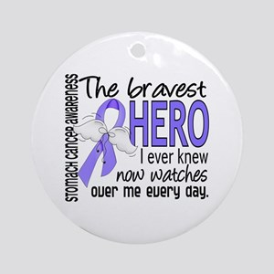 Bravest Hero I Knew Stomach Cancer Ornament (Round