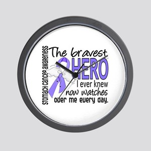 Bravest Hero I Knew Stomach Cancer Wall Clock